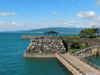 大山岬(太平洋を望む伊尾木漁港石積堤)